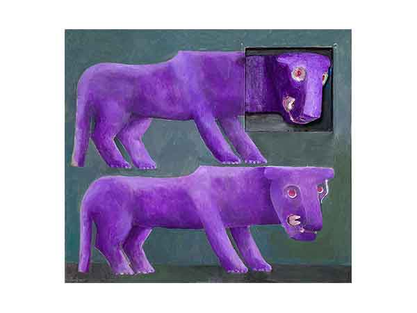 Two Purple Lions
